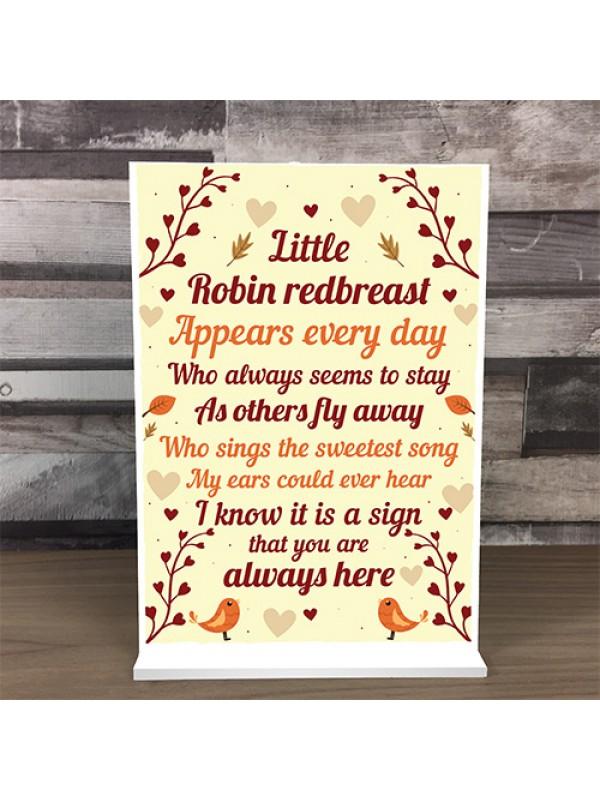 Robin Memorial In Memory Mum Dad Nan Grandad Standing Rememberan