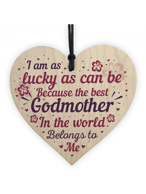 Godmother Gifts Thank You Gifts Wood Heart Plaque Godparent