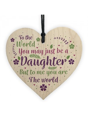 Christmas Gifts For Daughter Wood Heart Plaque Daughter Birthday