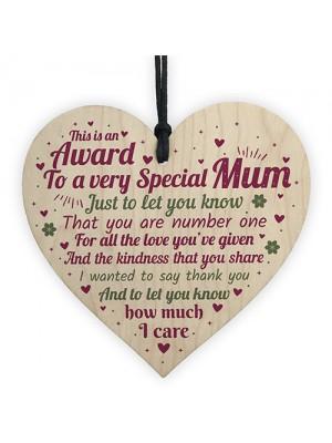 Mum Christmas Presens Heart Mummy Birthday Gift From Son