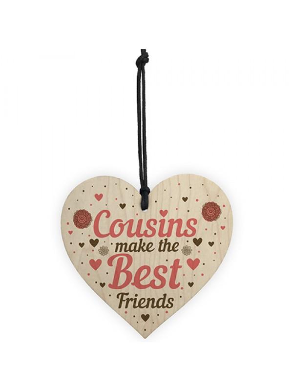 Cousin Heart Plaque Best Friend Friendship Sign Birthday Gifts