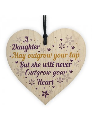 Daughter Gifts From Mum And Dad Wooden Heart Plaque Christmas