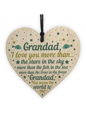 Grandad Gifts For Birthday Christmas Grandad Gifts Wood Heart