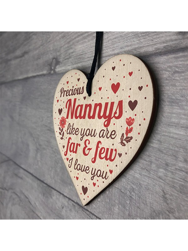 Nanny Gift From Grandchildren Nan Heart Plaque Birthday Keepsake