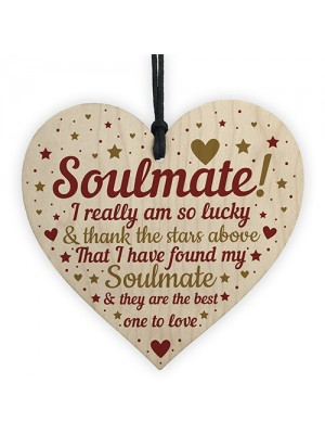 Soulmate Gifts For Him Her Heart Plaque Anniversary Birthday