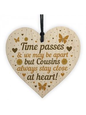 Cousin Gifts For Birthday Christmas Wooden Heart Plaque Family