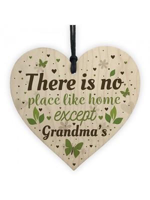 Grandma Nan Christmas Birthday Gifts Hanging Wooden Heart Sign