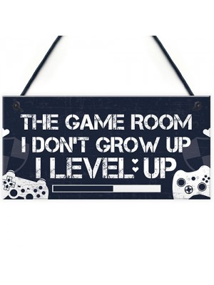Game Room Gamer Gaming Bedroom Door Sign Novelty Christmas Gift
