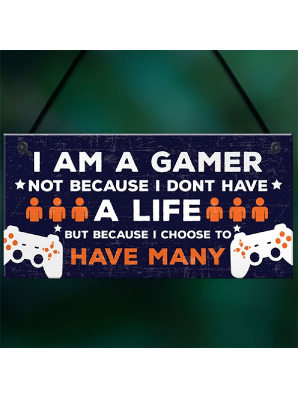 Novelty Gaming Boys Bedroom Sign Funny Christmas Gift For Brothe