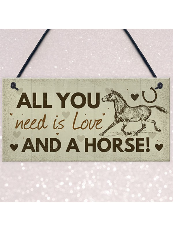 Birthday Christmas Gift For Mum Daughter Horse Lover Plaque Sign