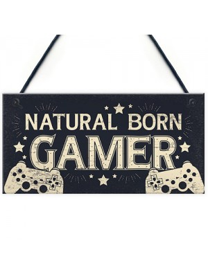 GAMER Door Sign Dad Brother Son Grandson Gamer Kids Gifts