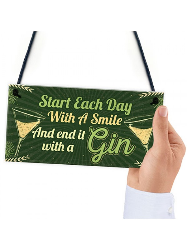 Novelty Gin Gifts For Women Hanging Sign Christmas Birthday Gift