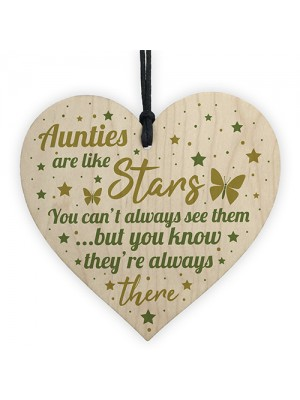 Auntie Gift For Birthday Christmas Heart Sister Keepsake Plaque