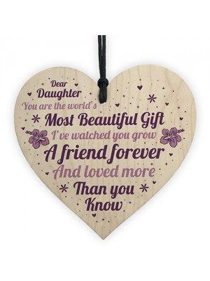 Daughter Gifts For Christmas Birthday Wood Heart Poem Daughter