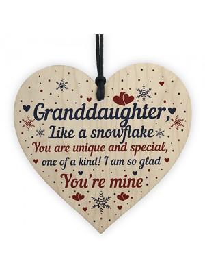 Granddaughter Ornament Heart Birthday Christmas Keepsake Gifts