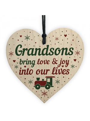 Grandson Gifts From Grandparents Wooden Heart Birthday Christmas