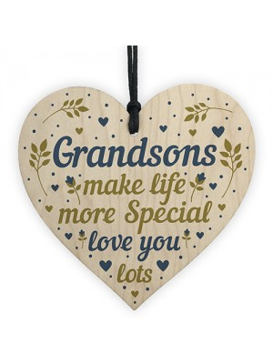 Grandson Keepsake Heart Birthday Christmas Gift From Grandparent