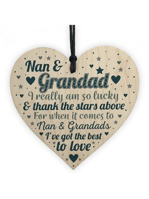 Nan And Grandad Gift For Birthday Christmas Heart Grandparents