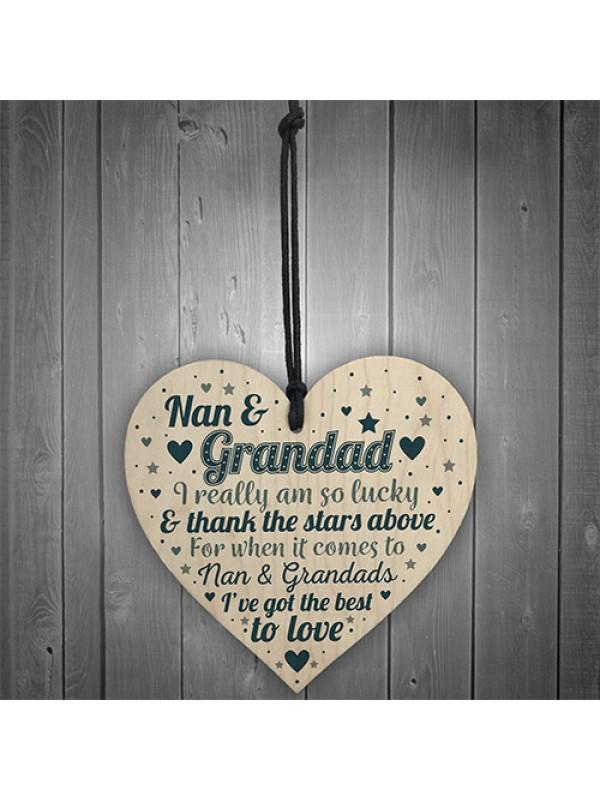Nan And Grandad Gift For Birthday Christmas Heart Grandparents