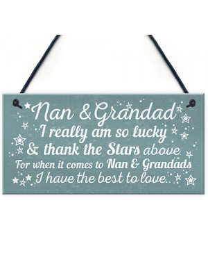 Best Nan And Grandad Gift Home Plaque Grandparent Sign Keepsake