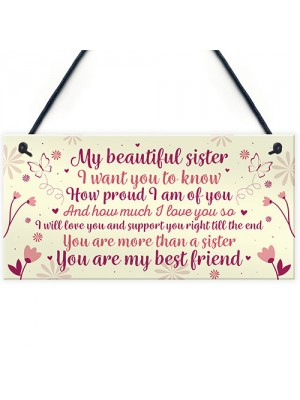 Sister Birthday Card Gift Plaque Sister Gifts For Christmas Sign
