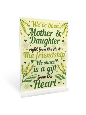 Mother And Daughter Gift Standing Plaque Mum Gift Mothers Day