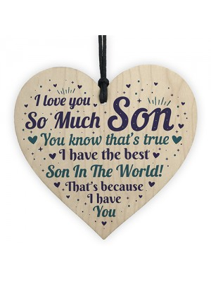 Son Card Birthday Christmas Wooden Heart Son Gifts From Mum Dad