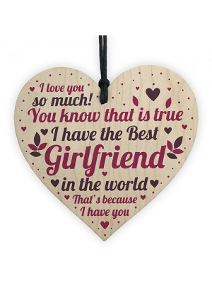 Girlfriend Christmas Card Gifts Wooden Heart Anniversary Gifts