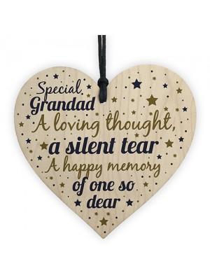 Grandad Memorial Decorations Birthday Xmas Tree Baubles Heart