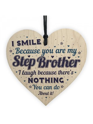 Funny Step Brother Card Birthday Christmas Present Gift Heart