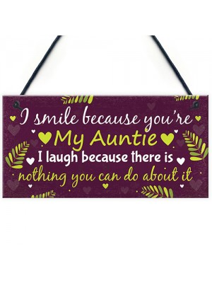 Auntie Aunty Sister Gifts For Birthday Keepsake Thank You Gift