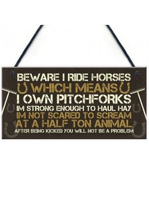 Novelty Horse Sign Funny Horse Gift For Girls Door Sign Gift