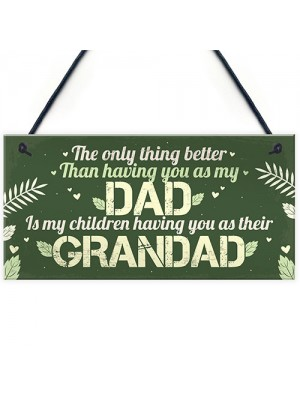 Dad Grandad Grandparent Gifts Hanging Plaque Thank You Birthday