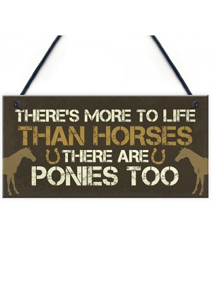 Funny Horse Pony Gifts For Girls Women Hanging Stable Bedroom