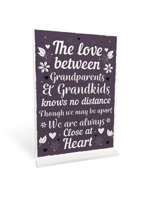 Nan And Grandad Gift Standing Plaque Grandma and Grandpa Gift