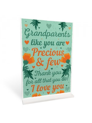 Grandparent Keepsake Standing Plaque Gift For Nan And Grandad