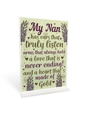 Nan Decorations Standing Sign Nanny Birthday Christmas Gift