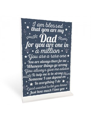 THANK YOU DAD Daddy Daughter Gifts Plaque Birthday Christmas