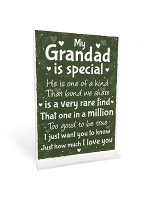 Grandad Christmas Birthday Gift For Grandparents Standing Plaque
