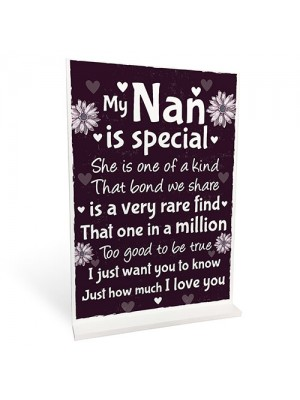 Nan Christmas Birthday Gifts For Grandparents Standing Plaques