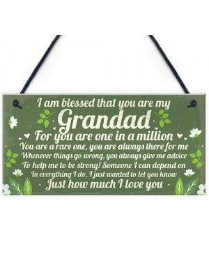 Gifts For GRANDAD Birthday Christmas Plaque Grandad Gifts