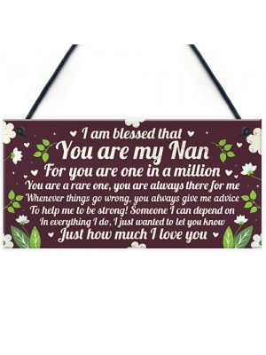 THANK YOU GIFT For Nan Plaque Nan And Grandad Gift Keepsake