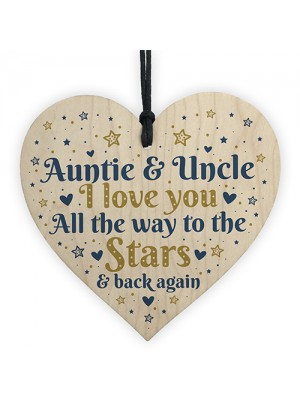 Handmade Gifts For Auntie And Uncle Sign Wooden Heart THANK YOU