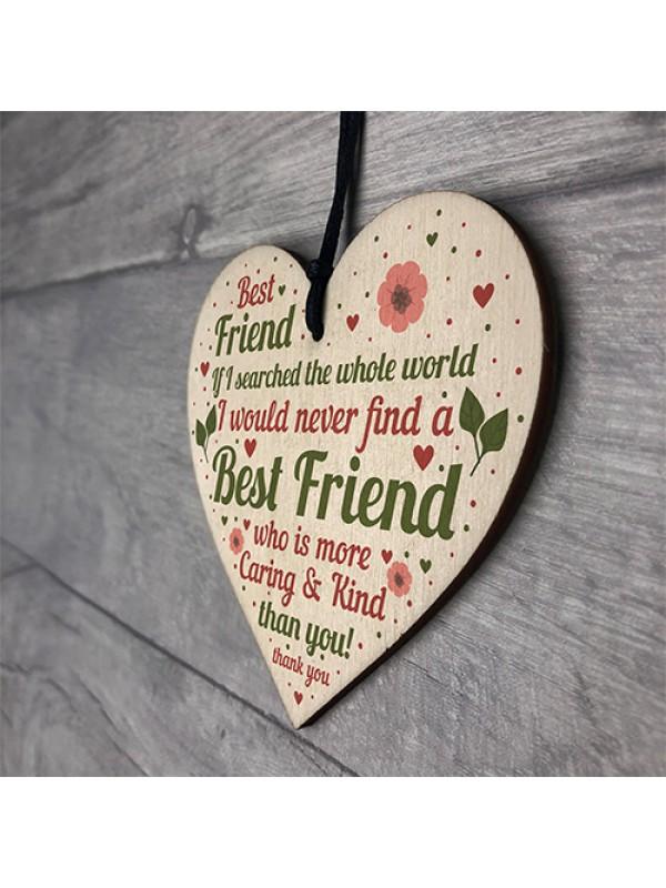 BEST FRIEND Friendship Gift For Friend Birthday Christmas Plaque