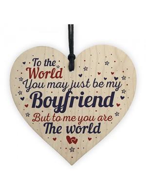 Boyfriend Birthday Christmas Card Gifts Wooden Heart Anniversary