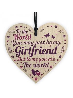 Girlfriend Birthday Christmas Card Gifts Wood Heart Anniversary