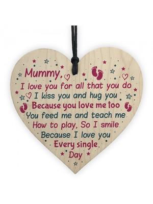 Mum Birthday Christmas Mummy To Be Wooden Heart From Bump