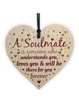 Soulmate Gifts For Girlfriend Boyfriend Husband Wife Wood Heart