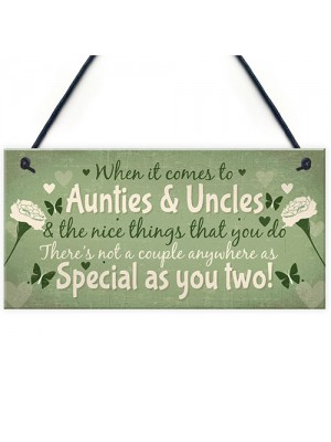 Keepsake Gift For Auntie And Uncle Family Gift From Niece Nephew