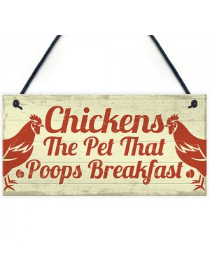 Funny Chicken Signs For Coop Garden Gate Home Novelty Plaque